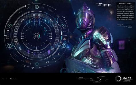clock themes for pc windows 7 combine rainmeter skins to create windows 7 sci fi desktop