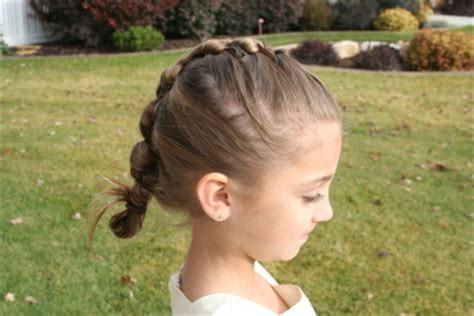 cute girl hairstyles knotted braid knotted braid updo hairstyles cute girls hairstyles
