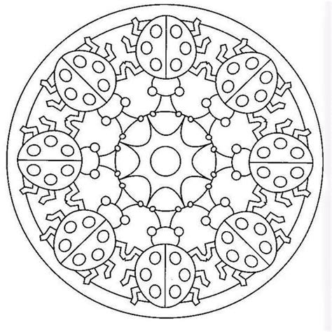 mandala coloring pages spring ladybug spring mandala coloring pages 7 171 preschool and
