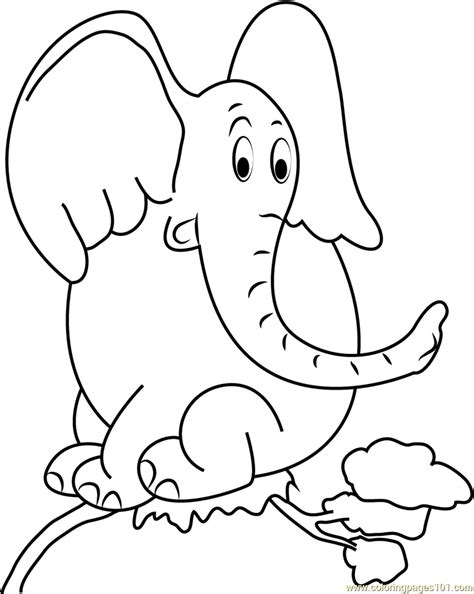 coloring pages horton the elephant horton sitting on tree coloring page free horton