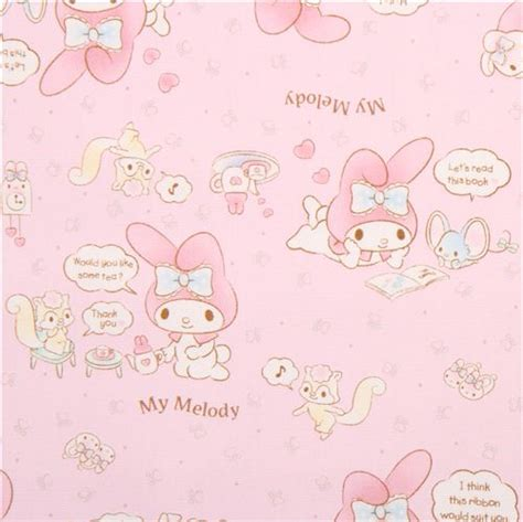 Pink My Melody Bunny Tea Plush Sanrio Oxford Fabric Iphone pale pink my melody bunny tea plush sanrio oxford