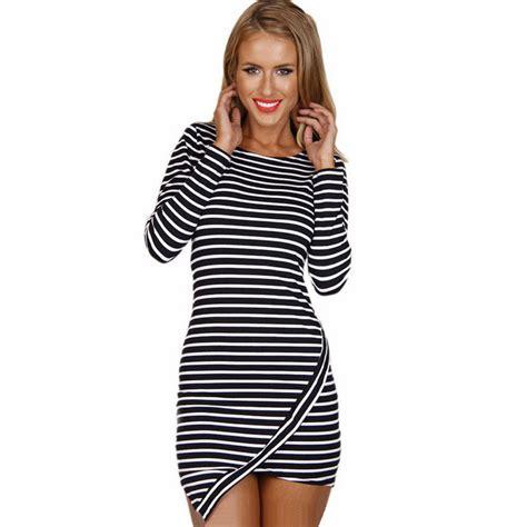 S Oliver Dress Mini Dress Stripe Dress mini stripe dress horizontal asymmetric hem o neck sleeve slim stylish striped