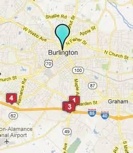 map of burlington carolina burlington nc hotels motels see all discounts