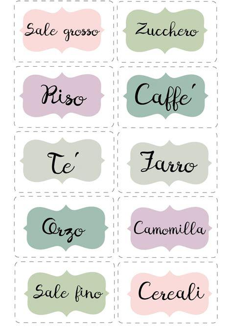 Cornice by Le Etichette Per La Cucina Da Stampare Bigodino