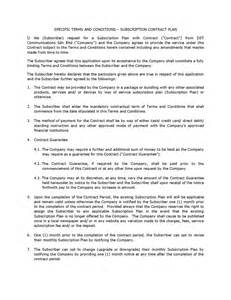 contractor terms and conditions template contract plan terms and conditions dst