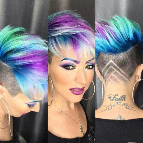 colorful short haircut best 25 short rainbow hair ideas on pinterest rainbow
