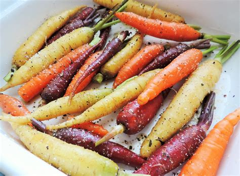 tri colored roasted carrots my midlife kitchen