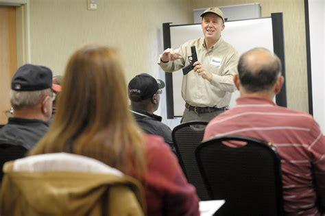 shaun curtain corvallis residents attend concealed firearm training