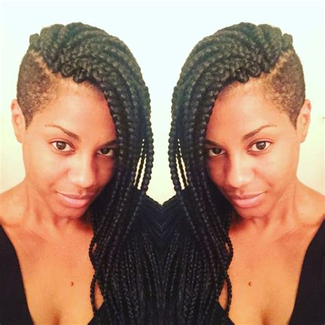 ways to style box braids with faded sides 18 best c it like it images on pinterest protective