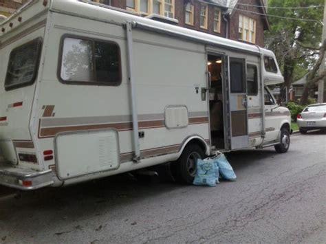 1984 rv ford cutaway van motorhome econoline 350 v8 7 5l 260 rdb travel trailer