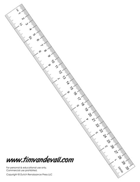 How To Make A Ruler Out Of Paper - printable paper ruler tim s printables
