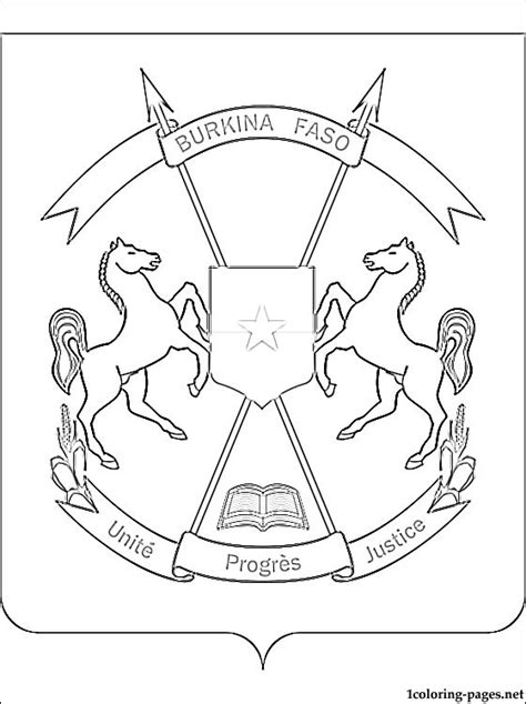 burkina faso coat of arms coloring page coloring pages