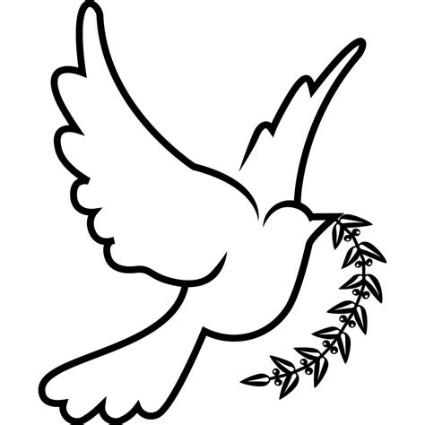 dove birds drawings clipart best dove drawings