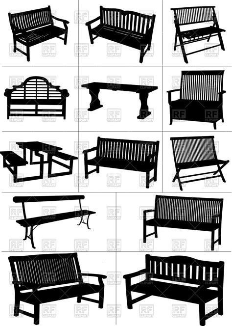 art work bench garden bench silhouette old wooden furniture royalty