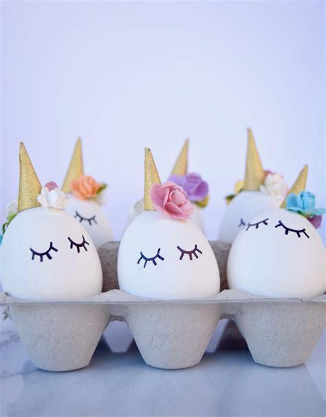 how to make easter eggs diy unicorn easter eggs tutorial
