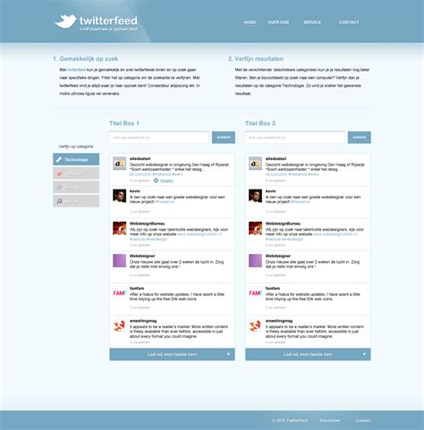 twitter feed layout strakke twitterfeed layout twitterfeed jpg