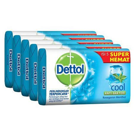 Bedak Dettol dettol bar soap cool 105g hemat 5pcs flashsale gogobli