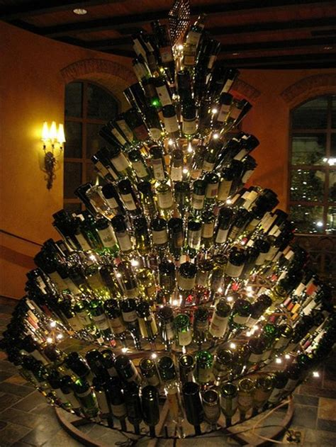 unusual christmas trees wine bottle tree dump a day