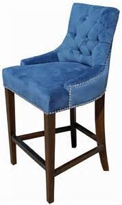 Bar stools amp kitchen counter stools on sale blue velvet fabric