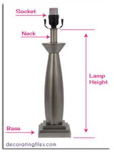 What Size Lamp Shade by How To Size A Lampshade Amp Other Tips For Table Lamps