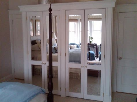 mirror closet doors for bedrooms mirrored bifold closet doors furniture and carpentry 187 ecs of boston carpentry re modeling