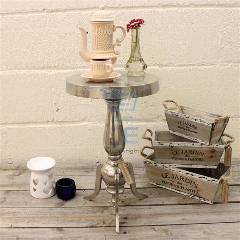 shabby chic small table aluminium side table pedestal cast shabby chic