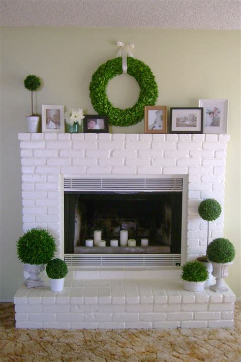 white painted brick fireplace 10 fireplace before and after diy projects