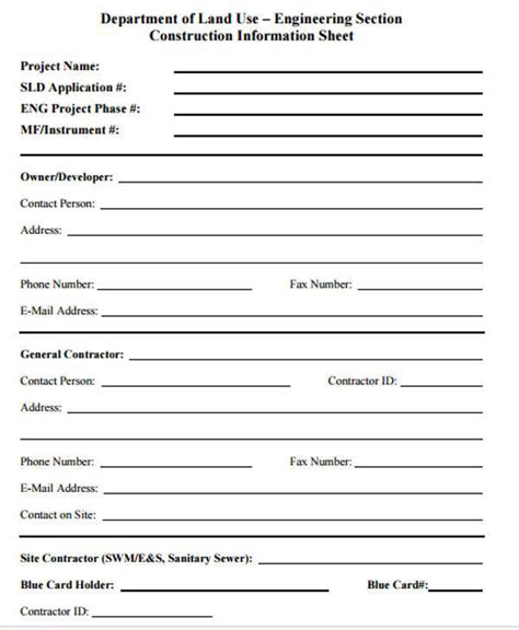 business information form template 28 images employee
