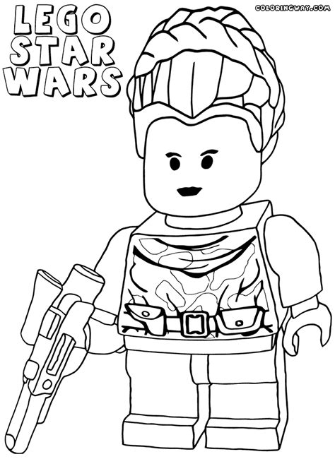 lego princess coloring pages star wars legos coloring pages princess leah az coloring