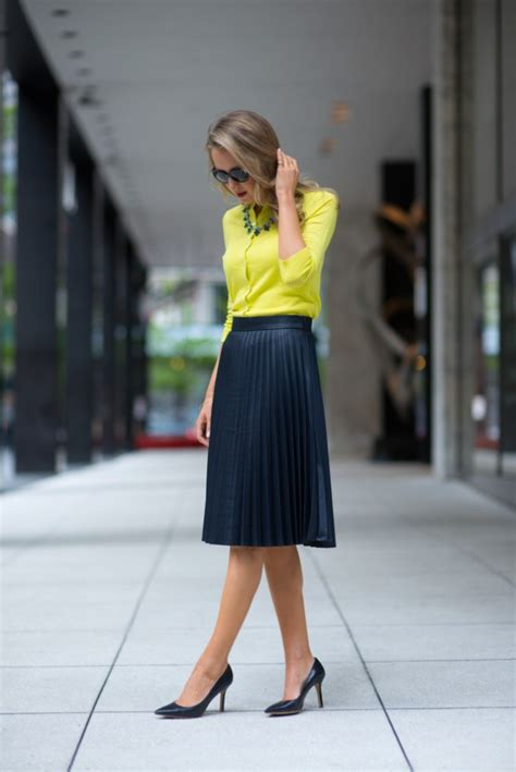 grown up ways to wear pleated skirts glam radar
