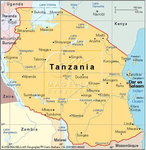 africa map tanzania about tanzania