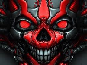 red  black skull wallpaper sf wallpaper