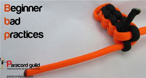 paracord craft projects bad practices when beginning paracord crafts paracord guild