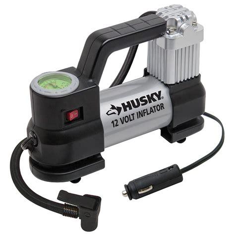 husky 12 volt inflator air compressor electric car motorcycle tire portable ebay