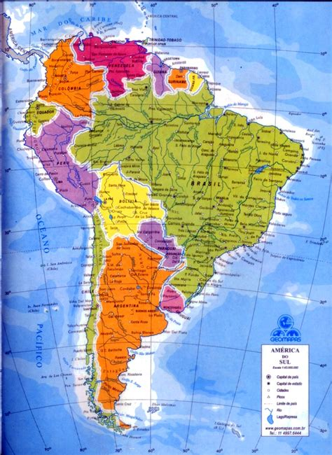 mapa a america do sul planeta am 233 rica do sul divis 227 o pol 237 tica