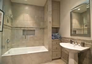 Bathroom Alcove Ideas by Soothing Bathroom Decoration Using Cream Limestone And