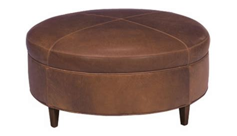 40 round ottoman round transitional leather ottoman club furniture