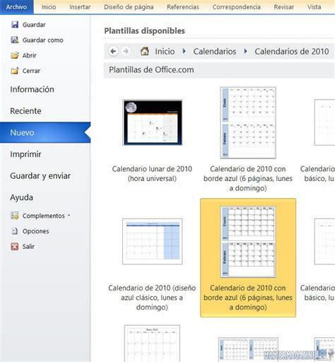 Crear Calendario Word C 243 Mo Crear Calendarios En Word 187 Definici 243 N