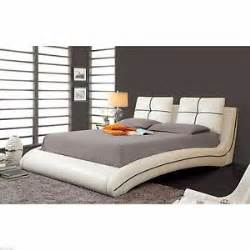 California King Leather Bed Frame Modern Cal King Size Platform Leather Bed Frame Bedroom Leatherette Furniture