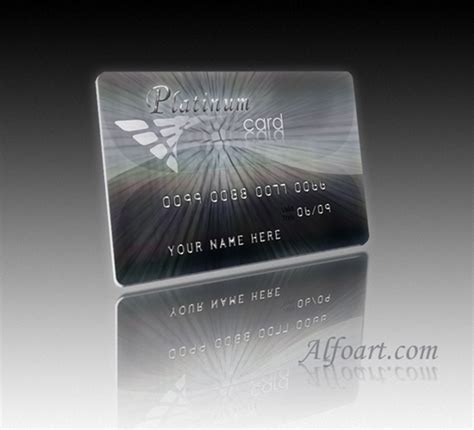 platinum membership card template process of a platinum credit card using photoshop