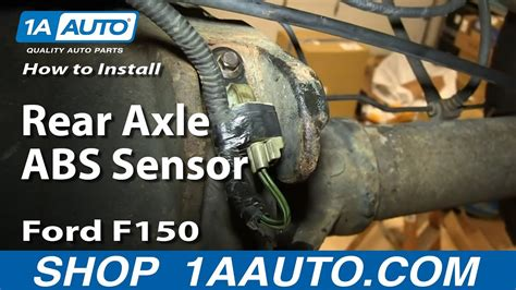 2005 ford explorer abs light on how to install replace rear axle abs sensor ford f150