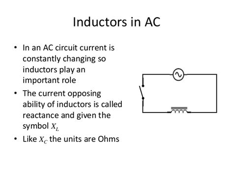inductors in ac current inductors in ac circuits