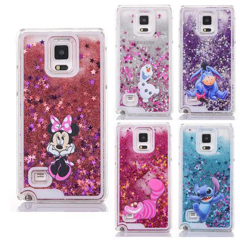 Stitch Big Ear Samsung Note 2note 3 shiny glitter phone for samsung galaxy note4 note 4 stitch cat mickey minnie