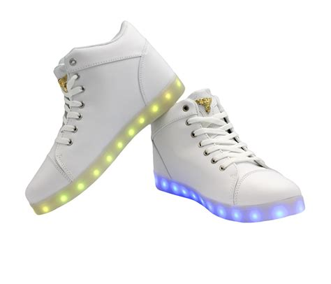 Led Shoes Kets Cewe 37 42 galaxy led shoes light up usb charging high top lace white galaxy led shoes