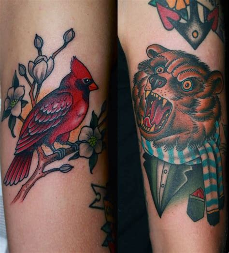 cardinal tattoo ink small cardinal bird