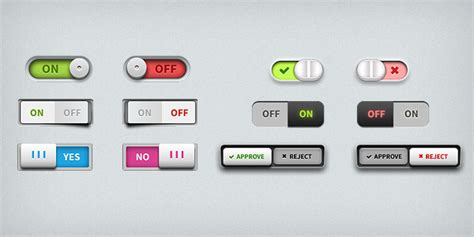ui layout toggle toggle switches ui elements psd graphicsfuel