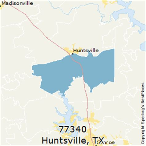 huntsville texas map best places to live in huntsville zip 77340 texas