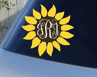 Auto Initial Decals by Sunflower Monogram Car Window Decal Initials Car Window