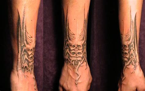 hr giger tattoo based on h r giger by kryoide on deviantart