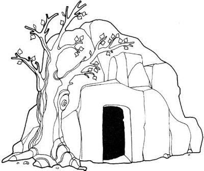 coloring page of jesus tomb jesus risen empty tomb of jesus coloring pages for kids